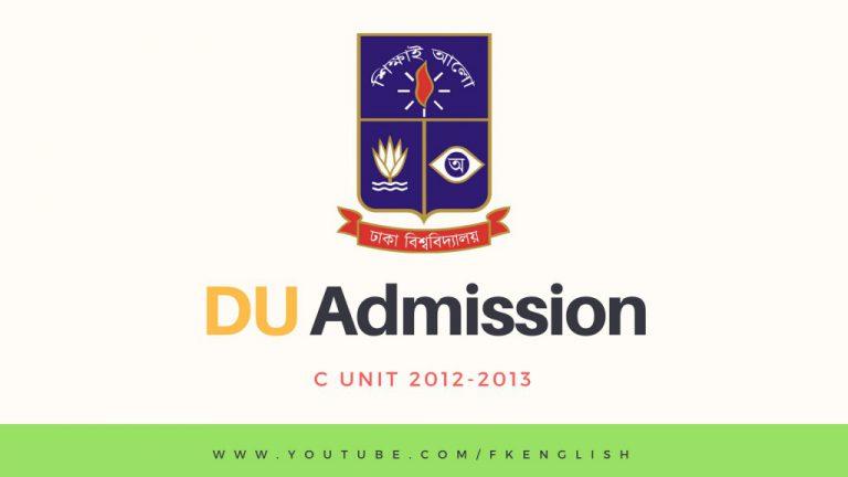 DU C UNIT QUESTION SOLUTION 2012 2013 FKENGLISH DU JU